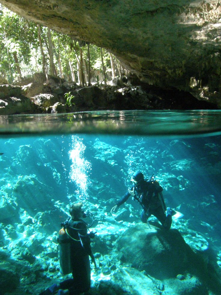 Cenote diving on my trip to Riviera Maya