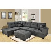 Found it at Wayfair - Della Chaise Living Room Sectional Set