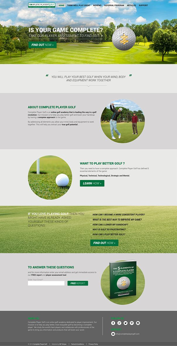 Complete Player Golf eCommerce WordPress website