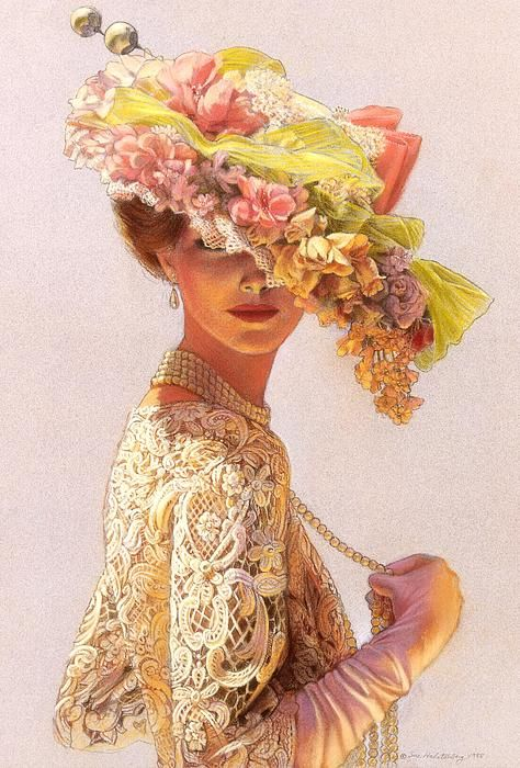 I want this as a tattoo on my calf.      (Lady Victoria Victorian Elegance - Painting by Sue Halstenberg)