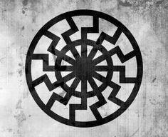 "Black Sun Symbol- The term Black Sun (German Schwarze Sonne), also referred to as the Sonnenrad (the German for ""Sun Wheel""), is a symbol of esoteric or occult significance. Its design bases on a sun wheel incorporated in a floor of Wewelsburg Castle during the Nazi era. Today, it may also be used in occult currents of Germanic neopaganism, and in Irminenschaft or Armanenschaft-inspired esotericism – but not necessarily in a racial or neo-Nazi context."