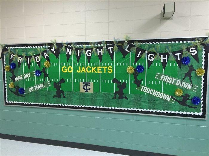 Friday Night Lights - Football Themed Bulletin Board Idea