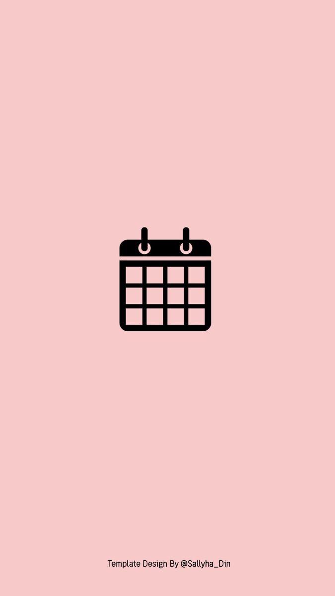 aesthetic calendar icon in 2020 | Calendar icon, Calendar ...