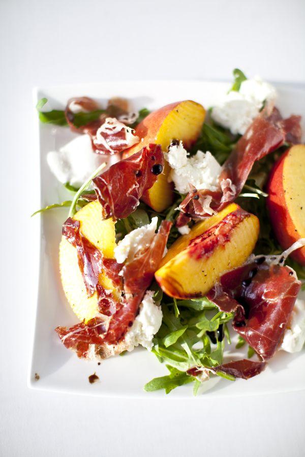 Peach, Jamón ibérico & Buffalo Mozzarella salad | Spain - Cuisine ...