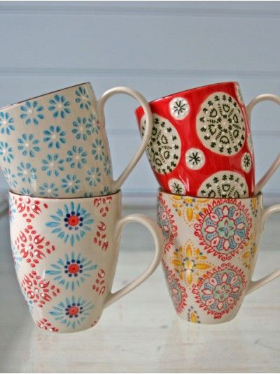 @Allison Rice Lovallo --> these look like one of your masterpieces :) Bohemian Hand Painted Mugs