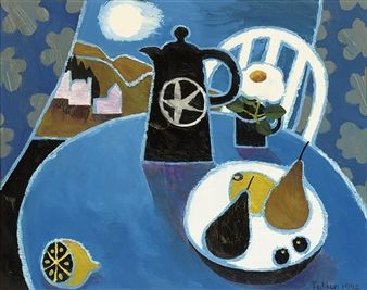 Moon and Jug By Mary Fedden ,1992