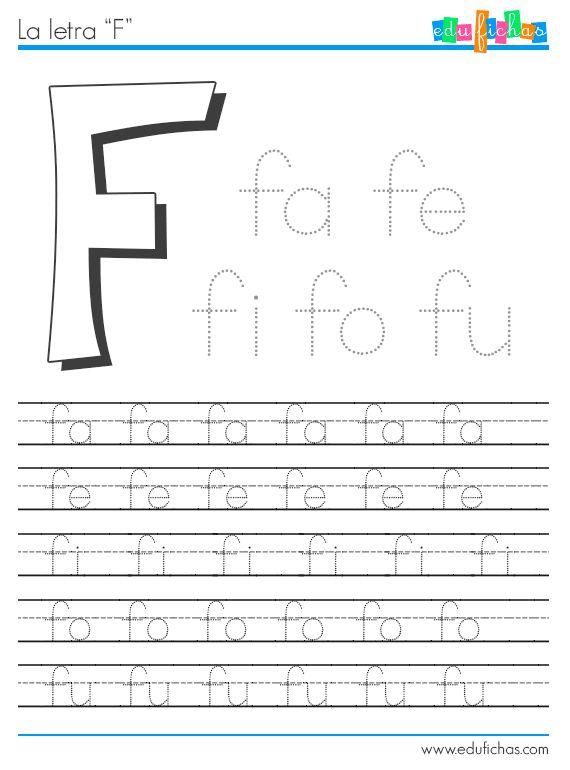 Ficha para aprender la F  http://www.edufichas.com/actividades/lectoescritura/silabas/silabas-con-f-fl-y-fr/  #letras #aprender #lectoescritura #worksheet