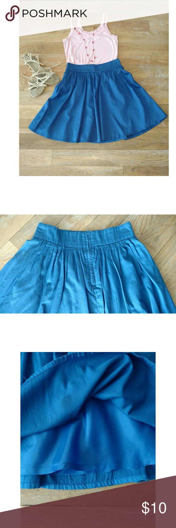 H&M blue skater skirt Blue skater skirt by Divided. So easy to dress up or down. The perfect date skirt. H&M Skirts Circle & Skater