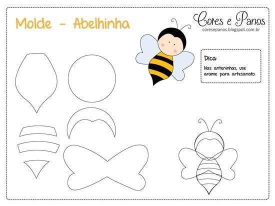 Moldes para hacer abejas de fieltro02