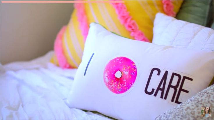 Alisha Marie from you tubes diy I donut care throw pillow
