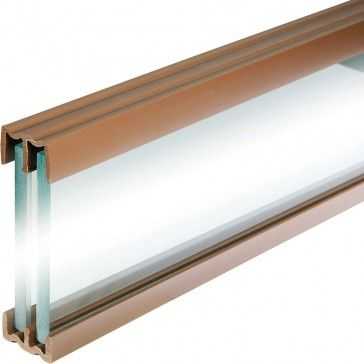 4 Foot Plastic Sliding Door Track for bypass glass or mirror cabinet doors