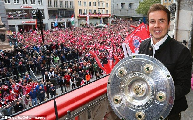 Striker Mario Gotze, who bagged a brace against Hannover 96 on Saturday, holds the Bundesliga title
