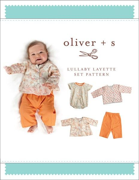 digital lullaby layette set sewing pattern