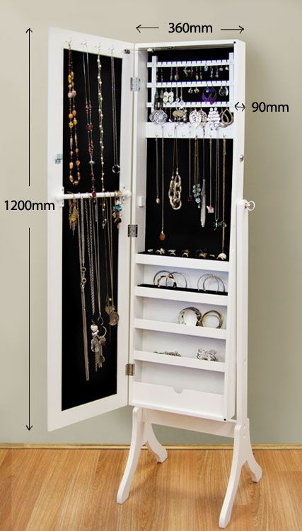 full length mirror + jewelry organizer (2)