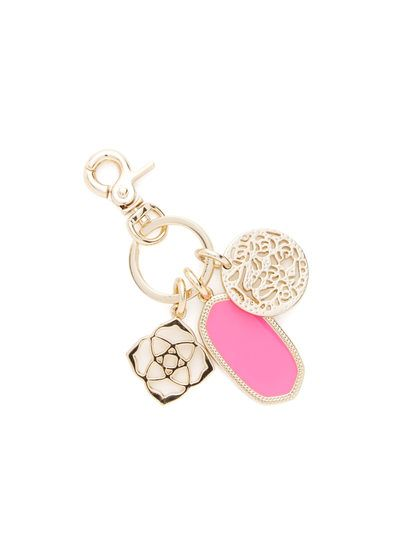 Shirley Neon Pink Keychain by Kendra Scott Jewelry at Gilt