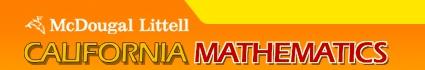 @home tutor for McDougal Littell Algebra 1 (math book with the bike)