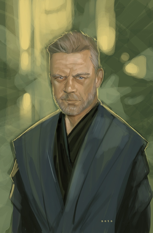 Jedi Master Luke Skywalker - Wallingford, Pennsylvania-based comic book artist and painter Phil Noto created a Star Wars-themed illustration that envisions what Mark Hamill would look like as an aged Jedi Master Luke Skywalker.