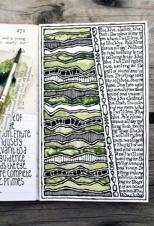 colorless-art:  Moleskin journal