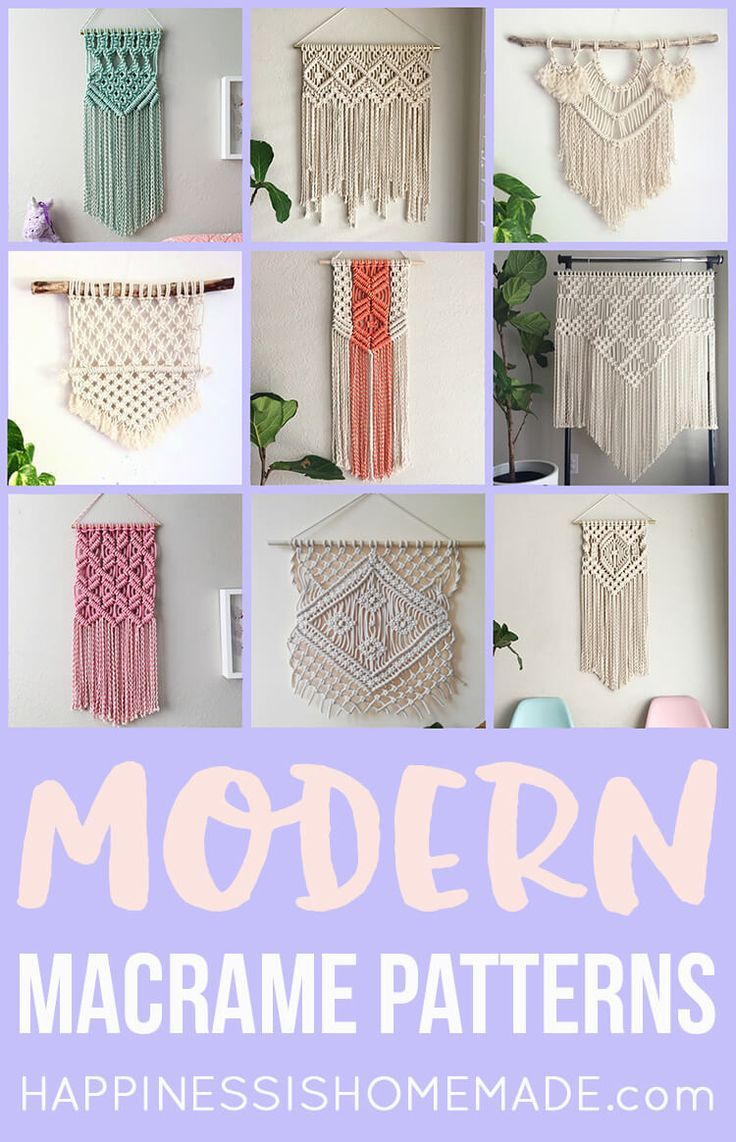 These Beautiful Modern Macrame Patterns Are Perfect For