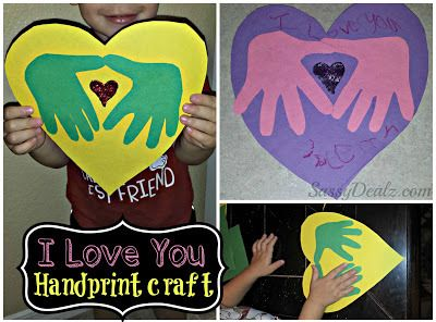 DIY: I Love You Handprint Craft For Kids (Great Keepsake Gift!) - Sassy Dealz