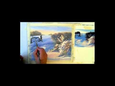 How to paint a watercolour snow scene. Drifting Snow Egton.