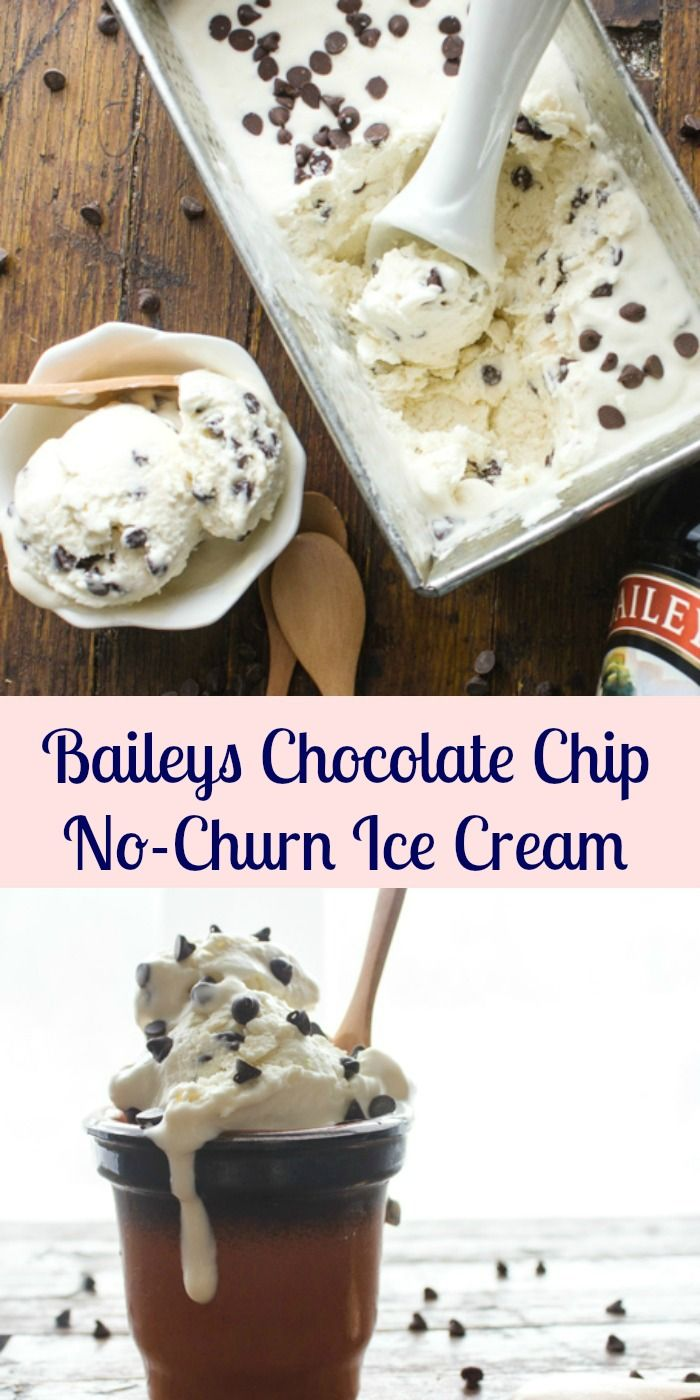 Baileys Chocolate Chip No-Churn Ice Cream, a so easy and simple no-churn ice cream recipe. Four ingredients, creamy and delicious Homemade ice cream.|anitalianinmykitchen.com