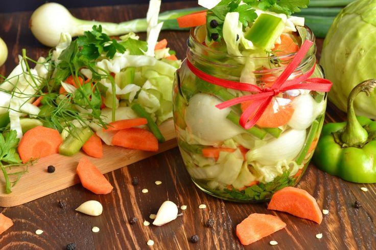 Салат из маринованных овощей на зиму. Пошаговый рецепт с фото - Ботаничка.ru
