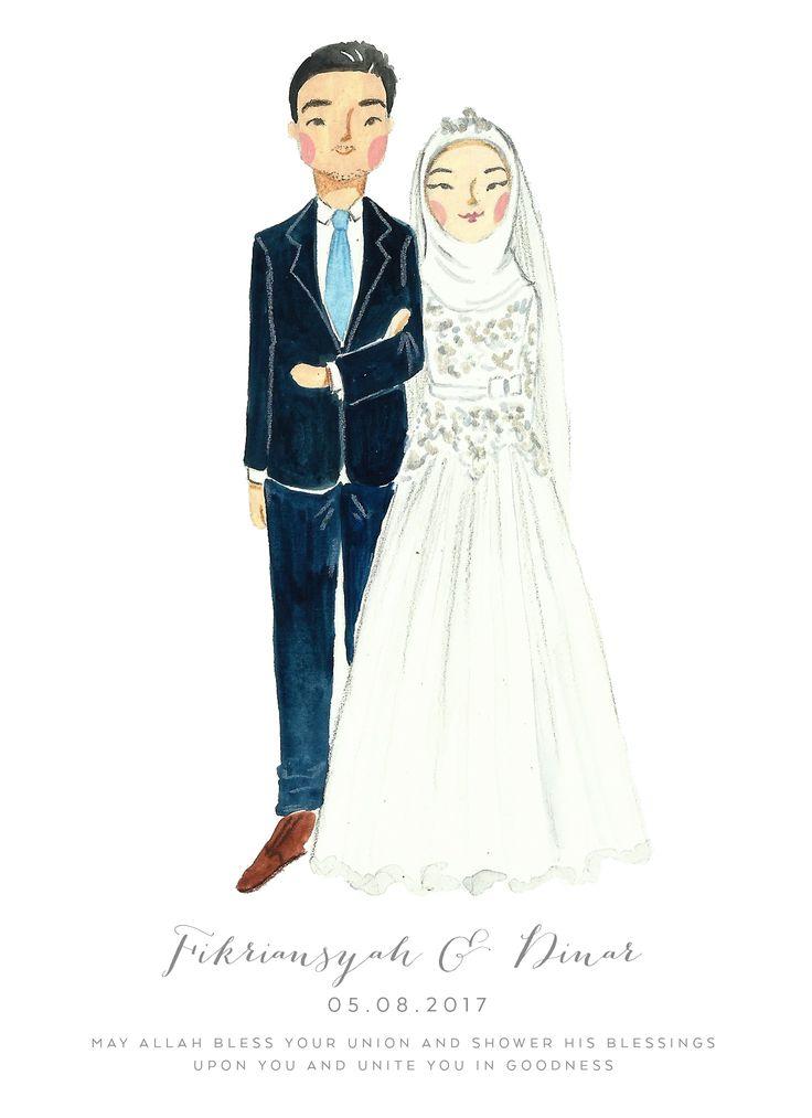 custom portrait illustration by Sasa Khalisa