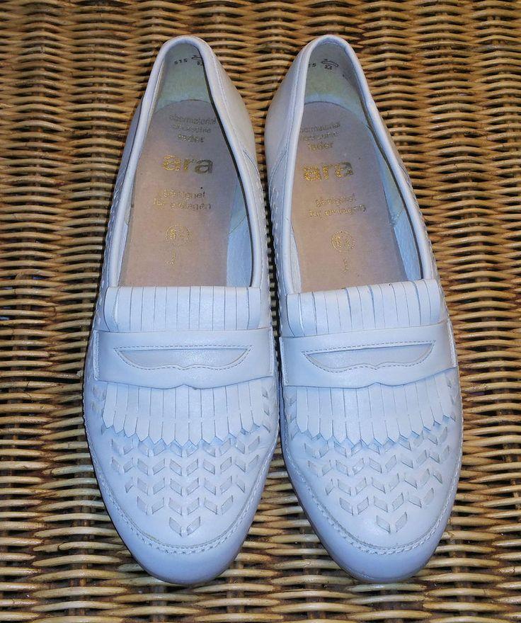 ara Damenschuhe,Gr. 6 ½,Leder (J)geeignet für Einlagen,naturweiß,sehr gute Qual.