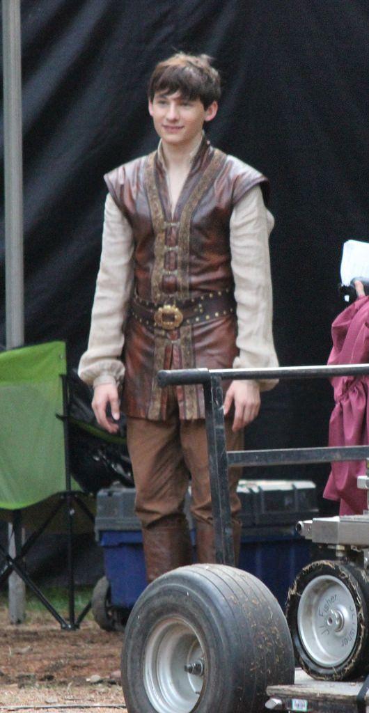 Jared Gilmore on set - August 28, 2015