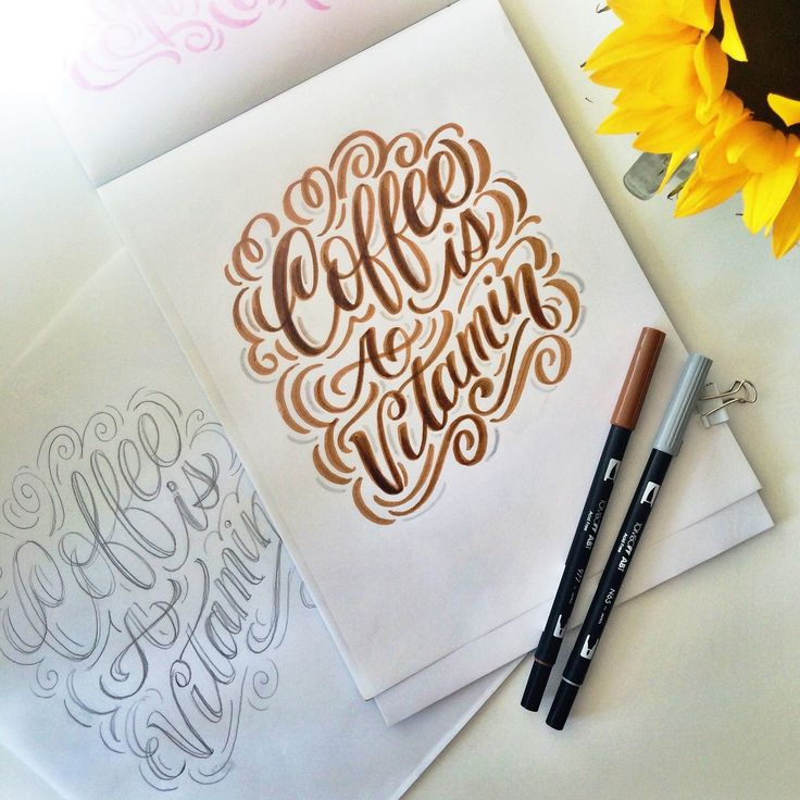 Tombow dual pens go great with Big, Bold and Colorful Lettering with Maia!