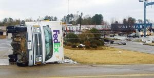 Was on Interstate when this tornado hit the Walmart and crossed over interstate in Newton, MS -  December 2002