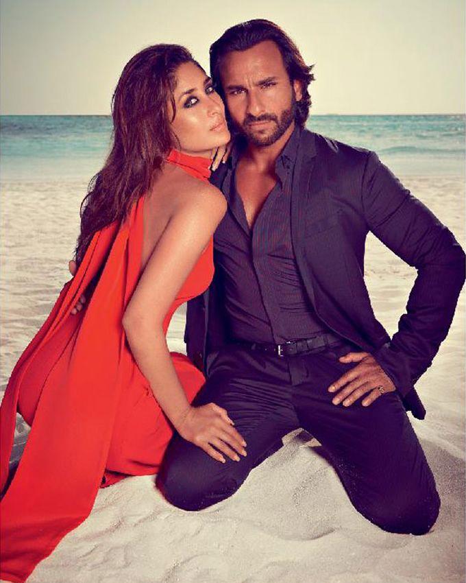 Bollywood Celebrity Engagement Shoot Inspiration (Kareena + Saif Ali Khan) - see more inspiration @ http://www.ModernRani.com