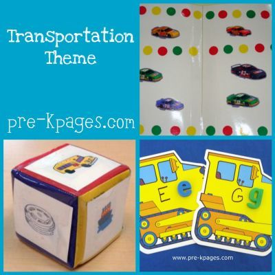 transportation ideas and activities for childcare, preschool, pre-k, or kindergarten via   www.pre-kpages.com/transportation/