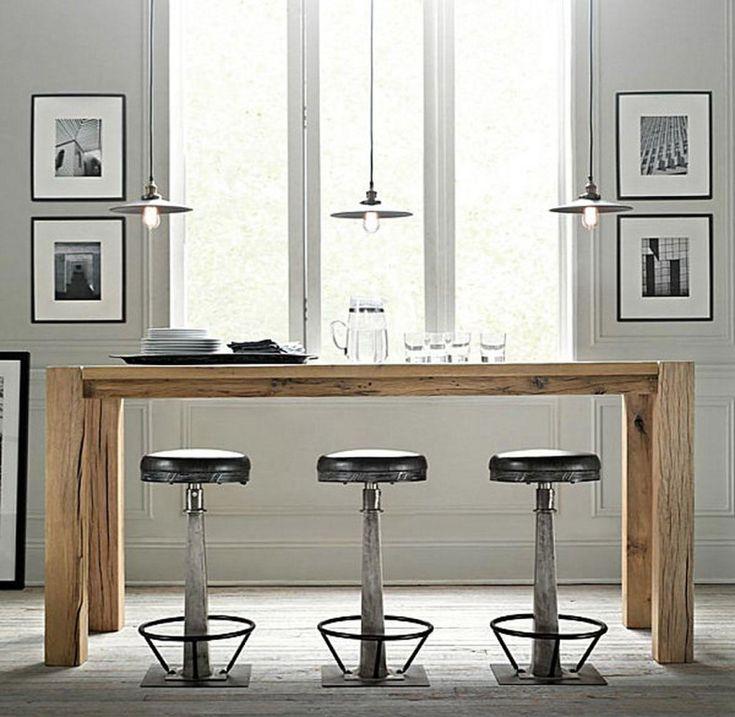 lovely kitchen simple kitchen bar design natural wooden brown rectangle kitchen bar table