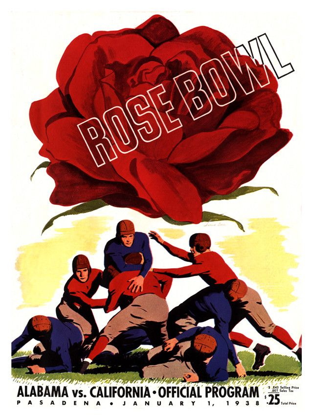 1938 California Bears vs Alabama Crimson Tide 22 x 30 Canvas Historic Football Print