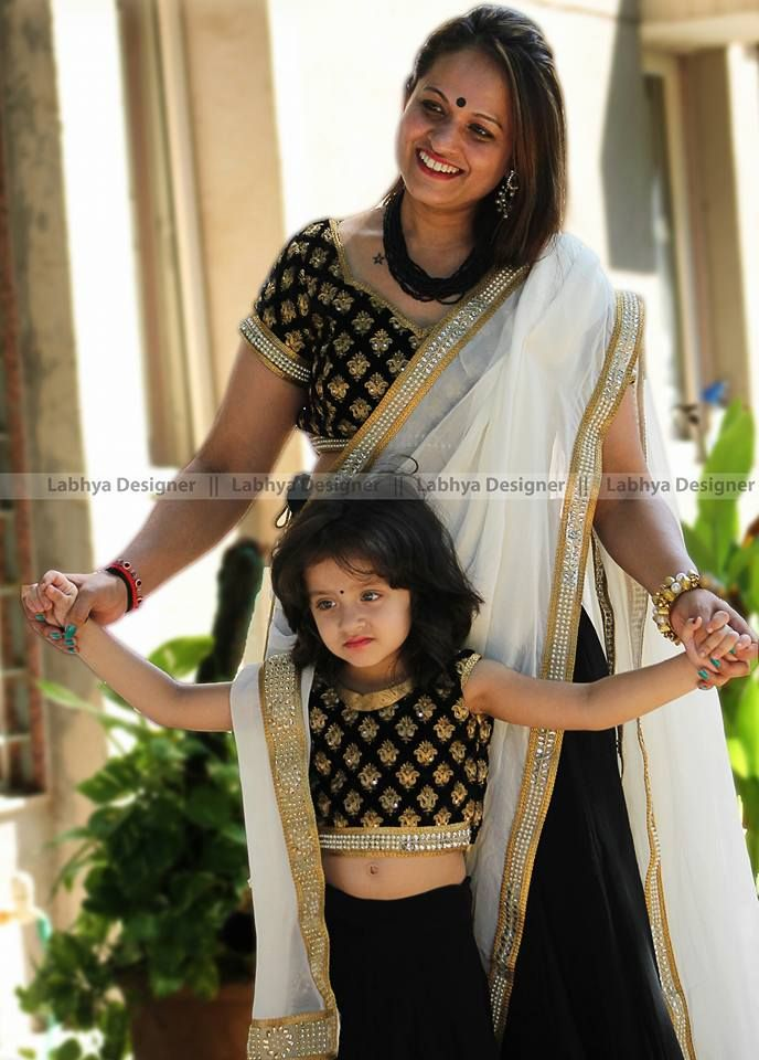 The most prettiest client we ever had.... Her outfit looked as adorable as she does... Super cute mother n daughter.... Feeling grateful to b trusted for....❤ Unique Fashion Studio Contact +918347959594