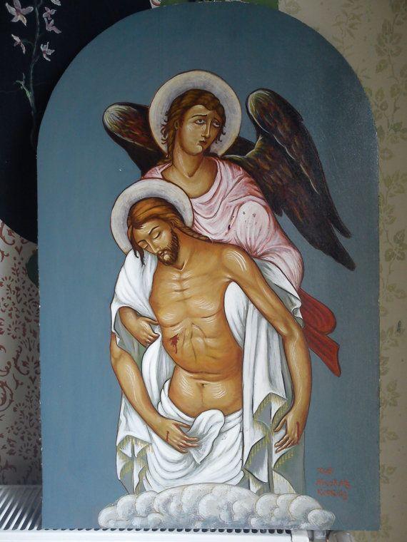 angel taketh Jesus by AmErgon on Etsy, $900.00