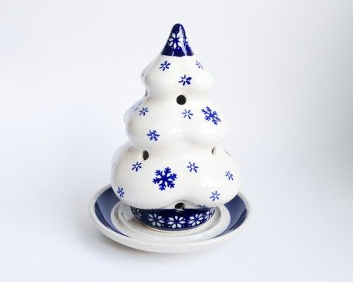 Christmas Tree Candle Holders #Christmas #Boleslawiec #polishpottery #potterycorner