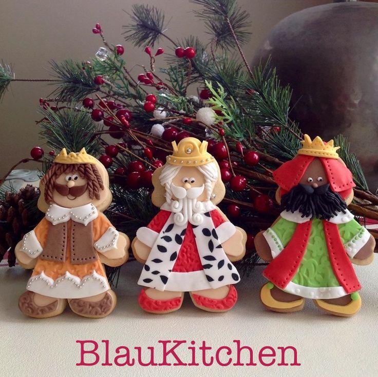 Three Wise Men Cookies. Galletas de los Reyes Magos