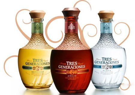 Tres Generaciones tequila.  Unusual bottle IMPDO