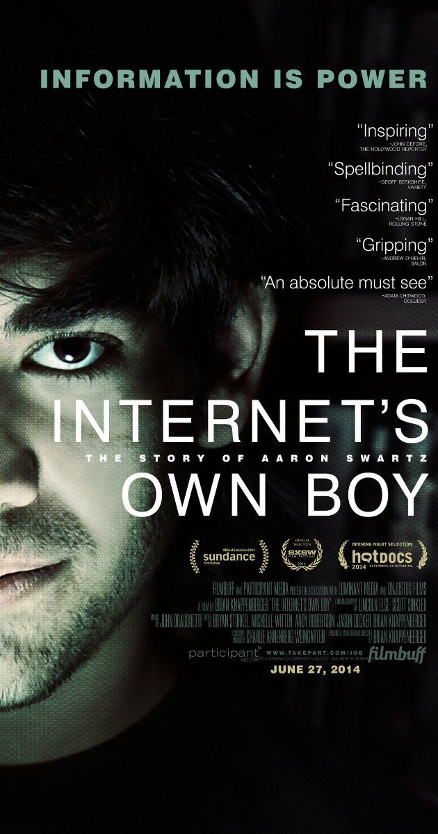 The story of programming prodigy and information activist Aaron Swartz, who took his own life at the age of 26.