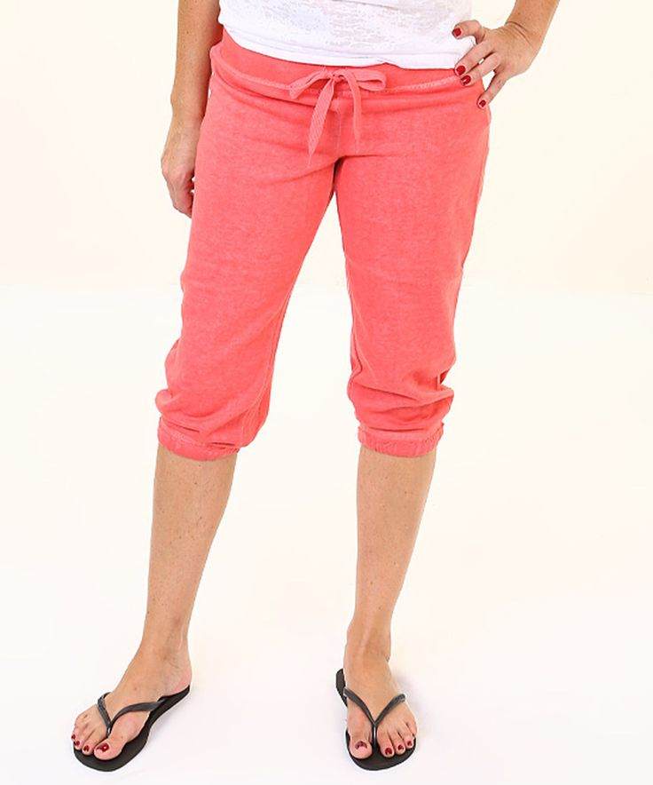 This Exist Coral Capri Pants by Exist is perfect! #zulilyfinds