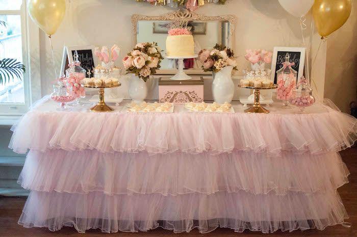 Pink and Gold Ballerina birthday party via Kara's Party Ideas KarasPartyIdeas.com Cake, decor, printables, cupcakes, favors, and more! #ballerinaparty #ballerina #pinkballerina (18)