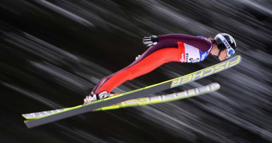 If you can fall for the length of a football field at 60 miles per hour, you can be a ski jumper