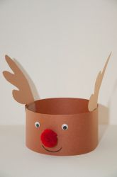 First Grade Winter Activities: Reindeer Hat