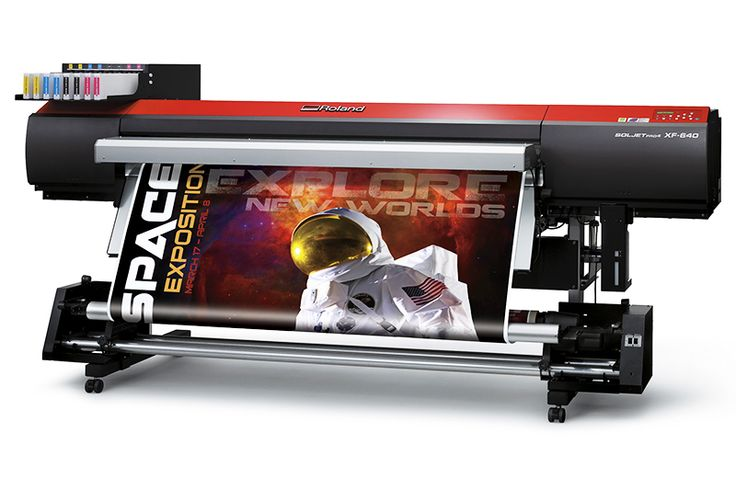 La totalmente nueva Roland XF-640, la impresora digital de gran formato más rápida del mercado. Imprime más de 100 m2 por hora!!
