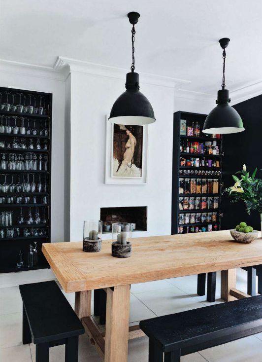 black + wood