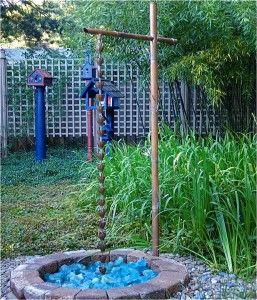 Water Features - Rain Chain  FrontYard  Pinterest