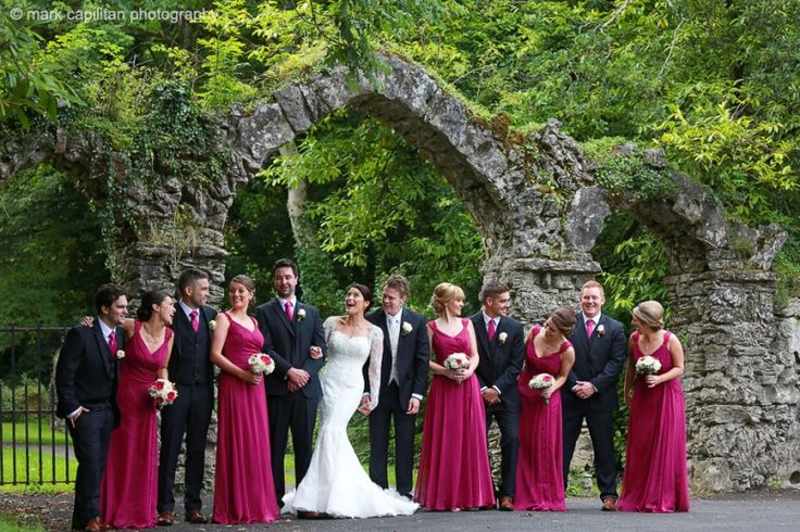 Bridal party partying at Kilronan Castle Ireland wedding photographer sligo